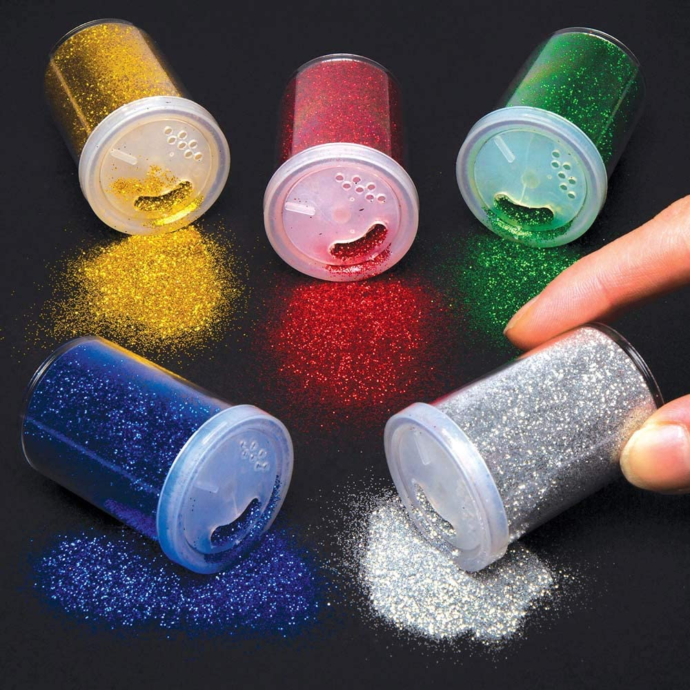 Baker Ross Glitter Shakers (Pack Of 5) For Kids Arts And Crafts:  Amazon.co.uk: Kitchen & Home