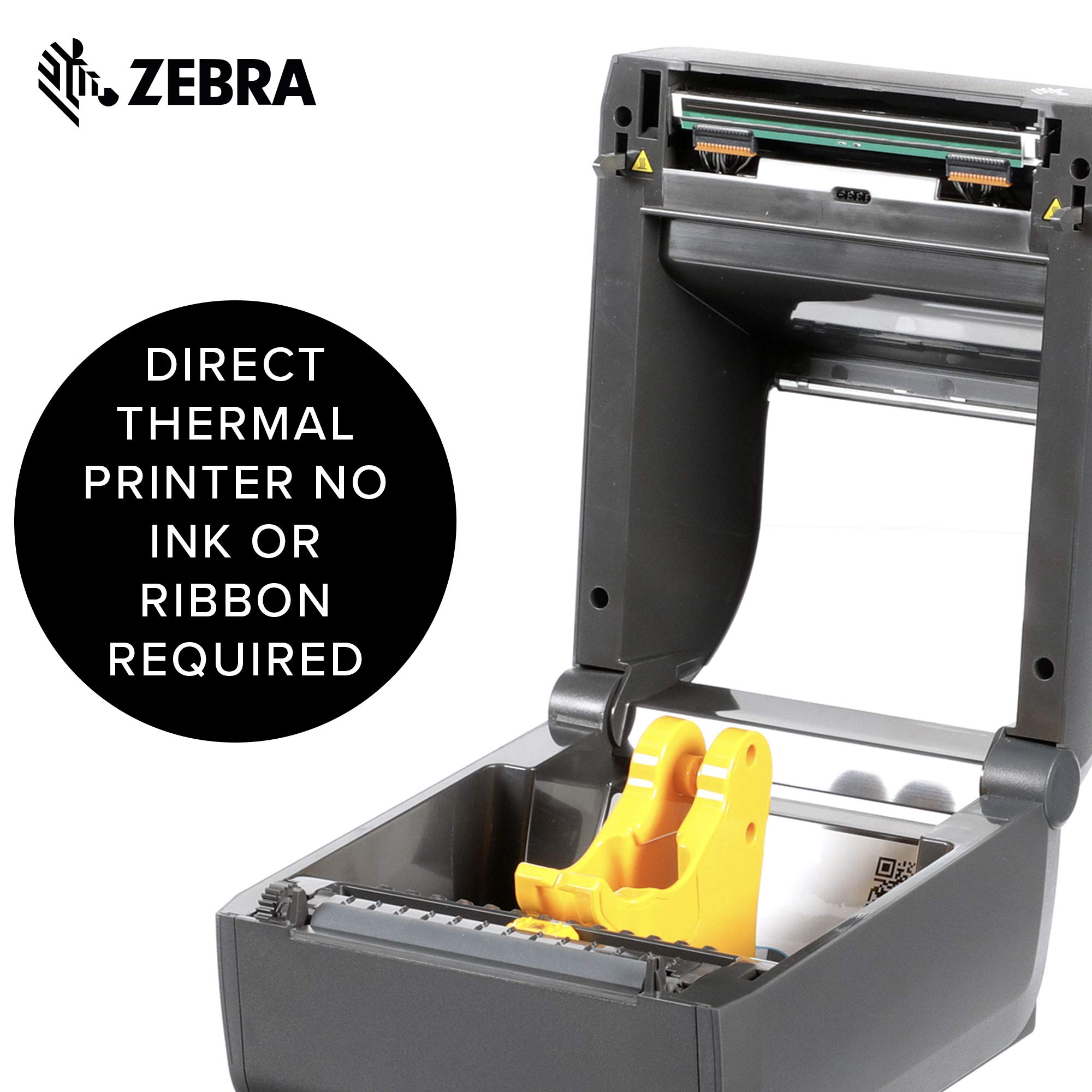 Zebra - ZD420d Direct Thermal Desktop Printer for Labels and Barcodes - Print Width 4 in - 300 dpi - Interface: WiFi, Bluetooth, USB - ZD42043-D01W01EZ by Zebra Technologies (Image #4)