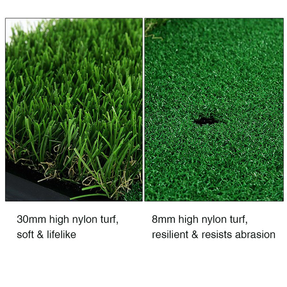 Foxcesd Golf Mat, Golf Hitting Mat with Realistic Fairway & Rough Portable Golf Practice/Training Turf Mat Mini Golf Green Grass Putting Mats for Indoor and Outdoor Golf Sports 12'' x 24'' by Foxcesd (Image #6)