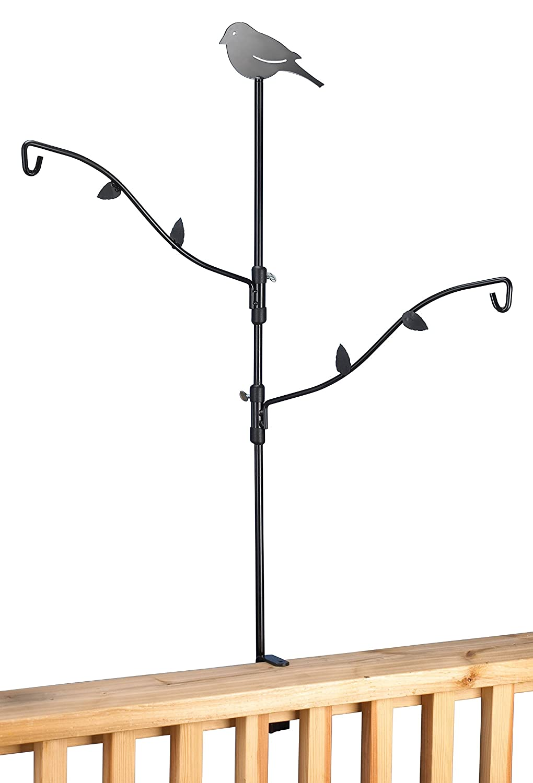 clamp patio inch feeder decks hangers amazon for ca lawn garden hook deck metal on dp bird select stokes
