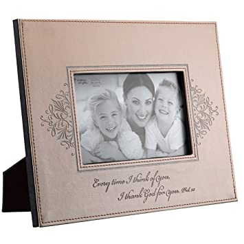 taupe shimmer i thank god for you faux leather 4 x 6 photo