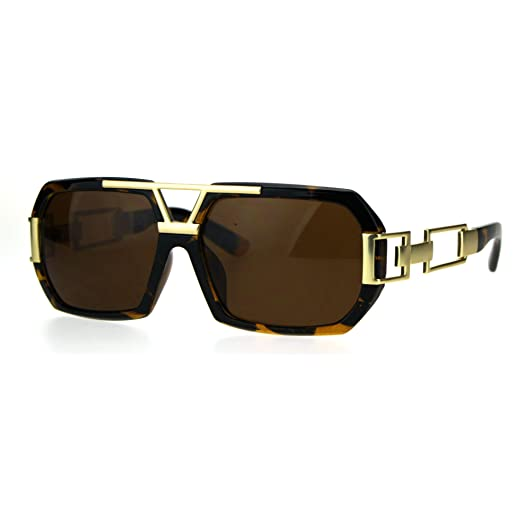 Hop Hip Sunglasses Baller Bling Geometric Mens Luxury Chain Mafia wnvm80N