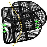 DAFUNY Soporte lumbar para silla de oficina, soporte lumbar para coche (2 unidades) almohada de apoyo lumbar de doble…