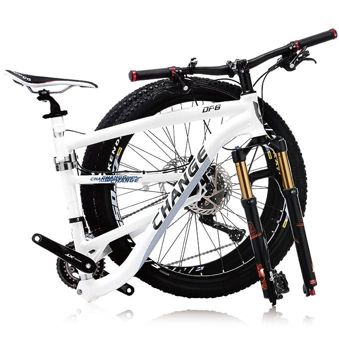 Change de 26 pulgadas de peso ligero de montaña de tamaño completo bicicleta plegable Shimano XT 2x11 velocidades DF-602WF: Amazon.es: Deportes y aire libre