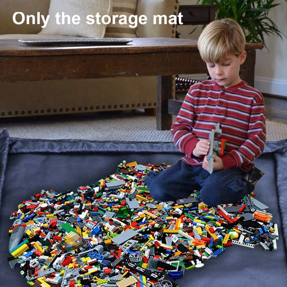 GEZICHTA Kids Play Mat Toy Storage Organizer Baskets Portable Collapsible Storage Bag Container with Drawstring for Children Kids