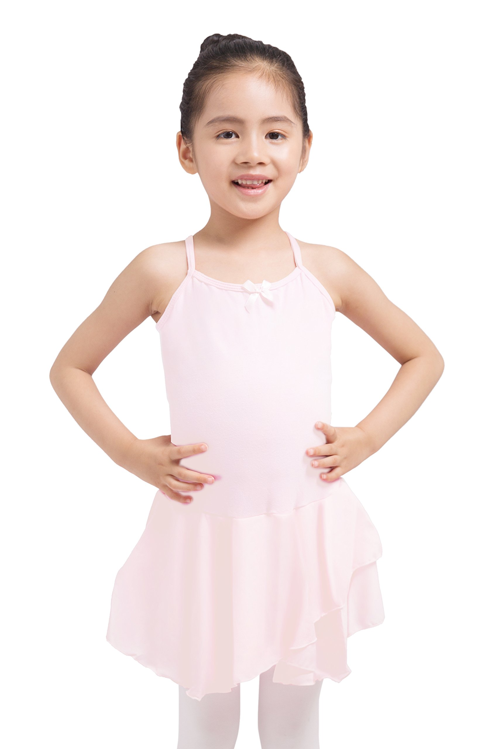 XIAOFEIGUO Girls Skirted Leotard Camisole Tutu Dress Ballet Dance Full Front Lining
