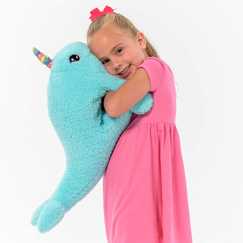 8 inches Bearington Collection Bearington Lil Groovy Plush Stuffed Animal Rainbow Narwhal