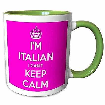 Amazoncom 3drose Evadane Quotes I Cant Keep Calm Im Italian