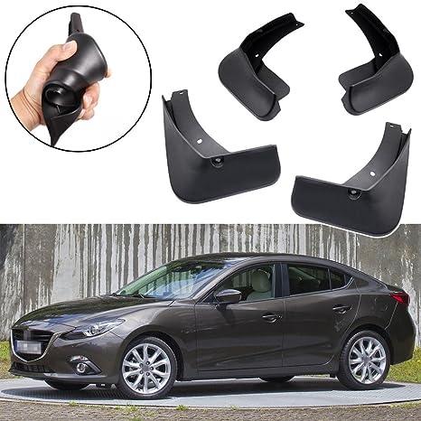 SPEEDLONG 4Pcs Car Mud Flaps Splash Guard Fender Mudguard Black For Mazda 3  Sedan 2014