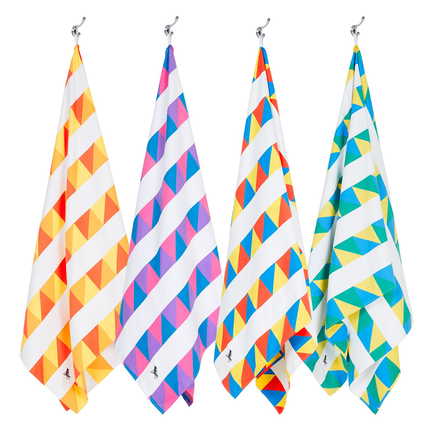Dock & Bay Set of Beach Towels - Set of 4, Extra Large (200x90cm, 78x35) - Quick Dry, Compact for Swim, Pool, Boat