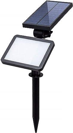 Luz Solar LED Exterior Con Sensor de Movimiento 960 Lumens, Foco Solar con Luz Cálida 2700K, Hasta 19 HORAS de Luz, Para Pared o Suelo, Exterior | Jardín | Patio | Terraza, 1 Unidad: Amazon.es: Iluminación