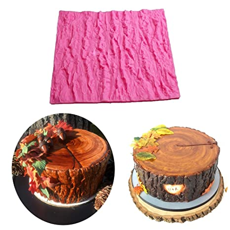 Amazon.com: Fondant Impression Mat, Tree Bark texture Design ...
