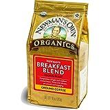 Newman's Own Organics Breakfast Blend Ground Coffee, 10 ounce bag (Pack of 3)