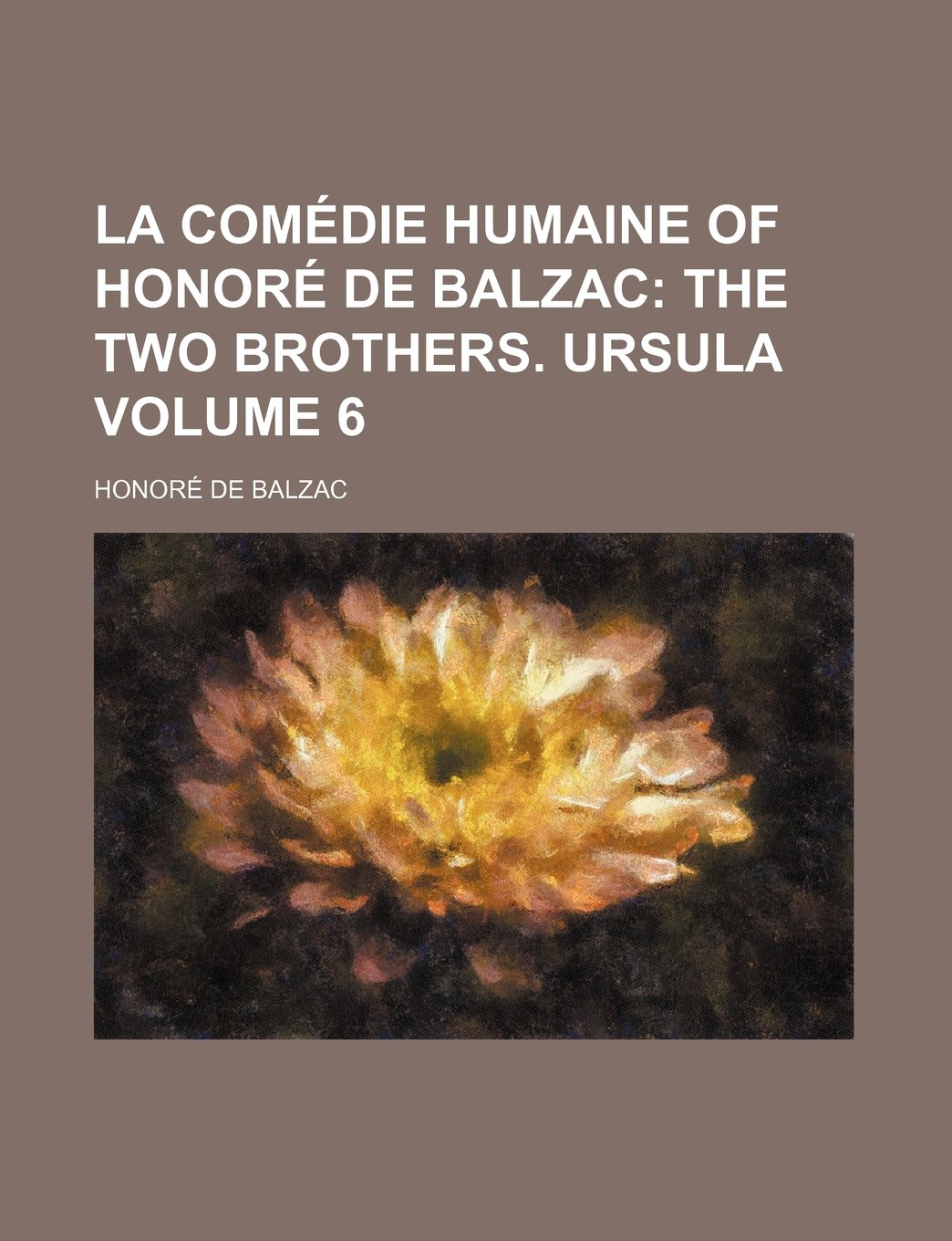 Read Online La Comedie Humaine of Honore de Balzac; The Two Brothers. Ursula Volume 6 pdf