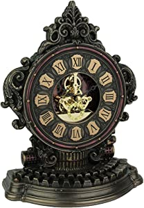 Veronese Design Steampunk Style Antique Typewriter Table Clock with Moving Clockworks