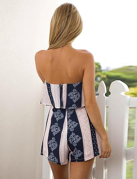 1e48c0d0d762 Amazon.com  FANEO Fitness Slim fit Suit Off Shoulder top Shorts Rompers  Jumpsuit Plus Size Jumpsuits   Rompers  Clothing