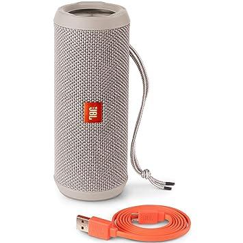 JBL Flip 3 Splashproof Portable Bluetooth Speaker  Gray  Home Audio
