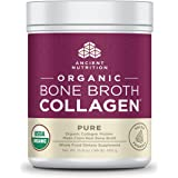 Ancient Nutrition Organic Bone Broth Collagen, Pure Flavor, 30 Servings Size - Organic Protein Powder Loaded with Bone Broth Co-Factors, 10g of Type I, II and III Collagen Per Serving