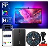 Govee LED TV Backlights, WiFi TV LED Strip Lights with Camera, Compatible with Alexa, APP Control, RGBIC Music Sync, TV Ambie