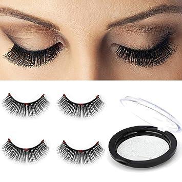 b11b36f4719 Longer Triple 3D Magnetic Eyelashes [No Glue] Premium Quality False  Eyelashes Set for Natural