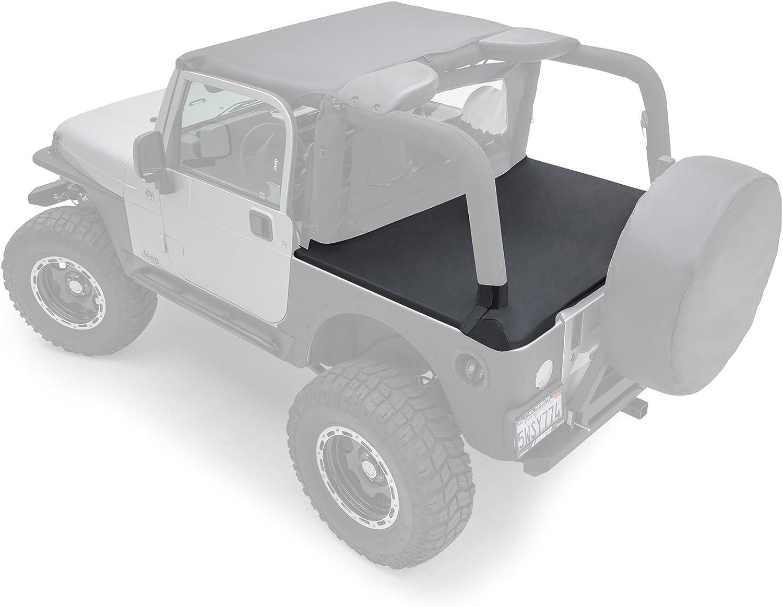Black Rampage Products 77015 Rear Tailgate Tonneau Bar Kit For 1987 2006 Jeep Wrangler Yj Tj Tonneau Covers