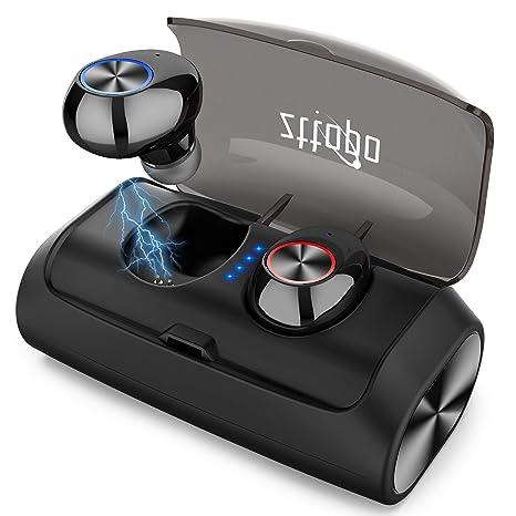 Auriculares Bluetooth 5.0 Inalámbricos, Zttopo Auriculares Inalámbricos Bluetooth Mini Twins Estéreo In-Ear 3000mAh