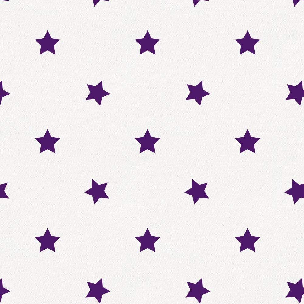 Organic 100/% Cotton Crib Skirt Made in The USA Carousel Designs Purple Stars Crib Skirt 17-Inch Gathered
