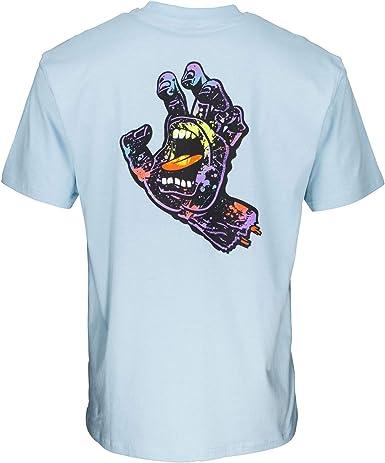 Santa Cruz Hand Splatter Camiseta de manga corta: Amazon ...