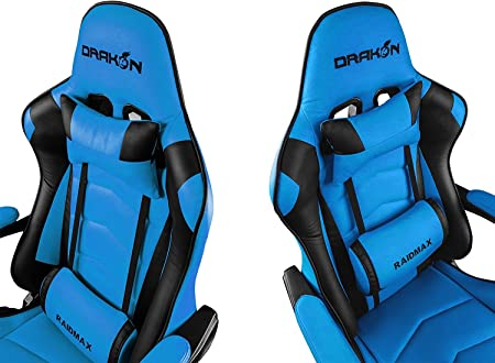 Drakon Raidmax 709 - Silla para Videojuegos, Color Azul: Amazon.es: Juguetes y juegos