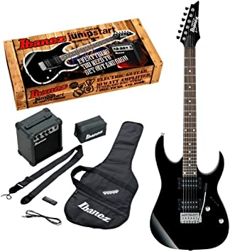Amazon Com Ibanez Ijrg220z Electric Guitar Package Black Musical