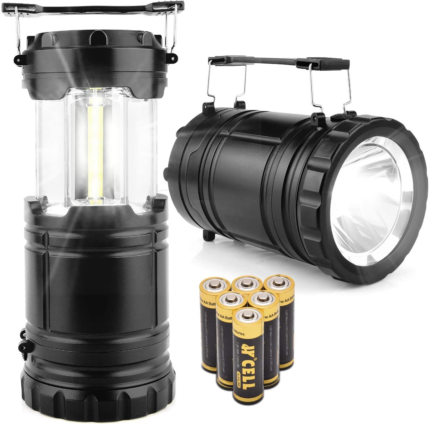COB LED Camping Lamp Portable Collapsible Tent Lantern Light for Outdoor TN2F
