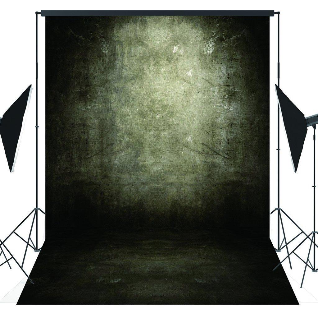 Capiscoブラックレトロテーマ5 x 7ftインドアスタジオ写真背景computer-printed PolyファブリックシームレスBackdrop mt03   B01CVJ5SWW
