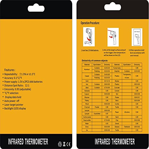 Thermomètre infrarouge Testé contre les thermomètres