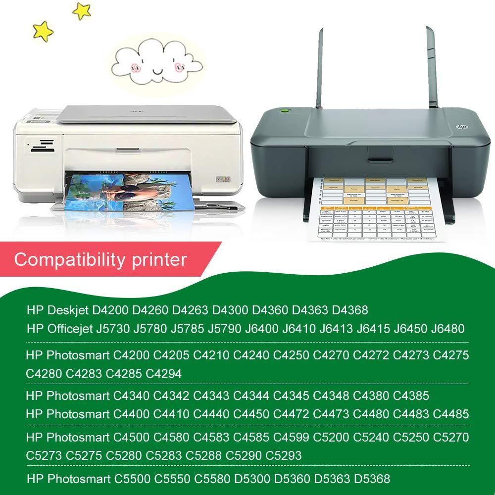 GREENSKY 2 Paquetes Cartucho de Tinta compartible de reemplazo para HP 350XL 351XL para HP Photosmart Deskjet OfficeJet C5250 C4585 C4599 C4440 C4472 ...