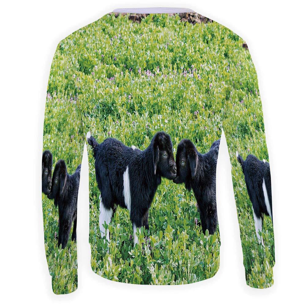 MOOCOM Mens Crewneck Anemone Flower Sweatshirt