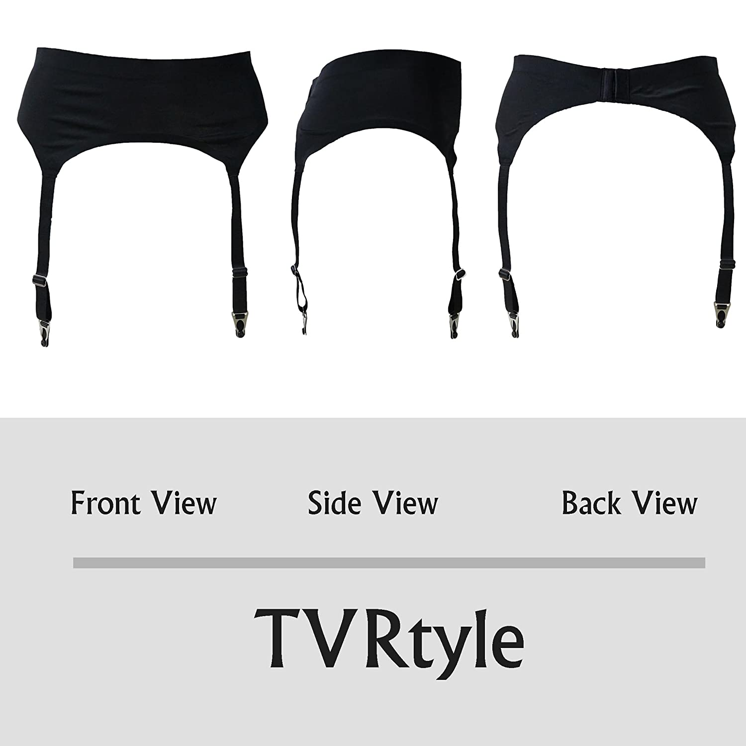 b8be4a43d TVRtyle Women s Black Ultra-Thin 4 Wide Straps Metal Buckles Sexy Garter  Belts for Stockings larger image