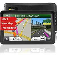 GPS Navigation for Car,Latest 2021 Map ,9 inch Touch Screen Real Voice Spoken Turn-by-Turn Direction Reminding…