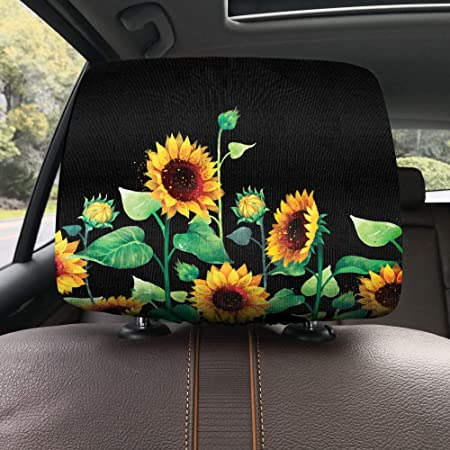 Cute Animal Protective Fabric Design Cover Decoration for All Cars WIRESTER Car Seat Head Rest Cover