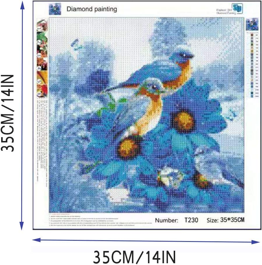Round Full Drill Crystal Rhinestone Owl Mosaic Cross Stitch DIY Diamond Painting for Home Wall Decor Adults and Kids DIY 5D Diamond Painting Kit