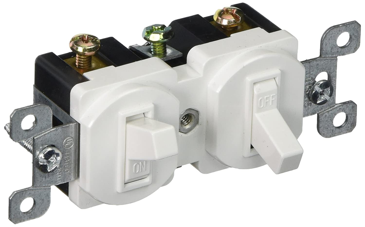 Morris 82091 Double Toggle Switch, Single Pole, 120V, 15 Amp Current ...