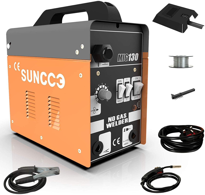 3. SUNCOO 130 MIG Welder Flux Core Wire Automatic Feed Welding Machine
