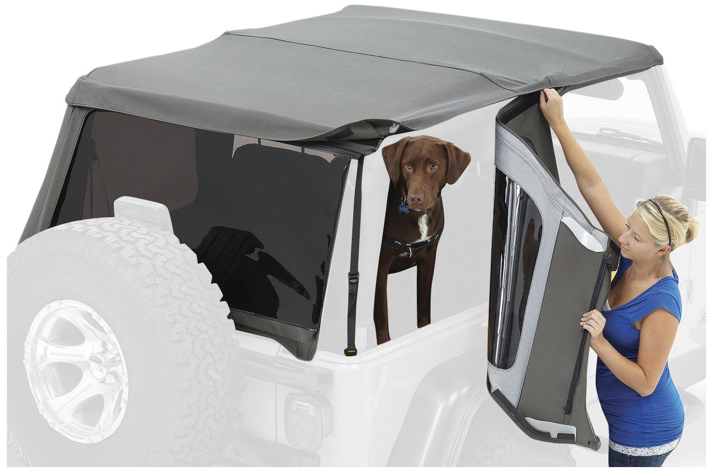 Bestop 58442-17 Black Twill Tinted Window Kit for Trektop NX for2007-2018 Wrangler 2-Door