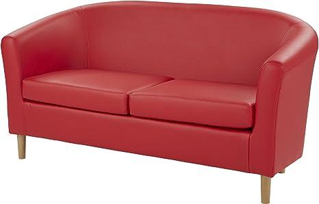 Divano Rosso Ecopelle : Tesco contenitore divano 2 posti in ecopelle compact rosso: amazon