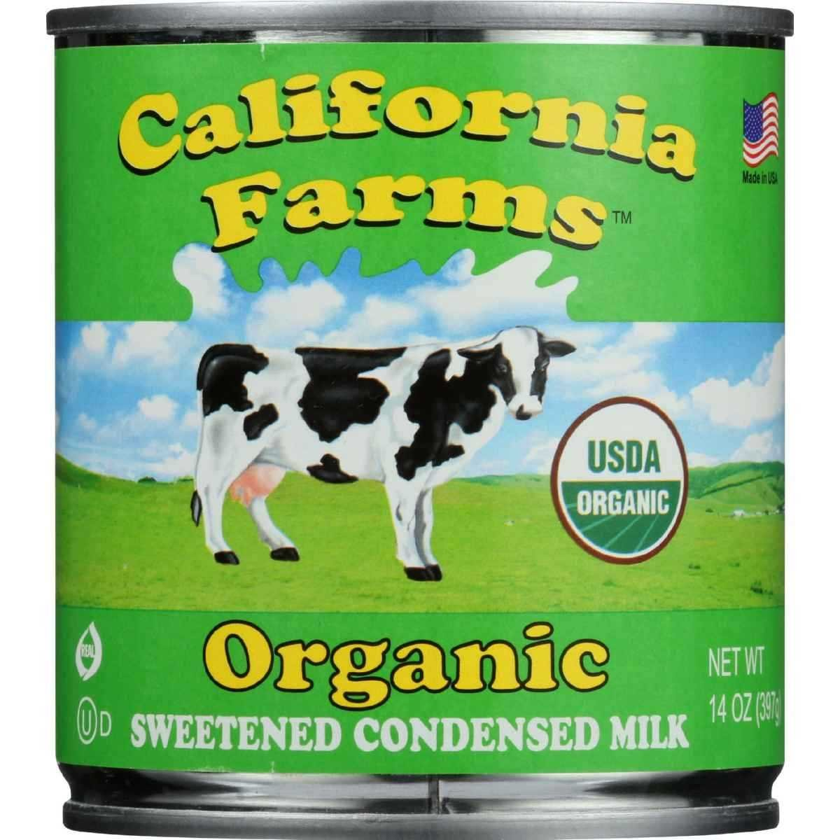 California Farms Condensed Milk - Organic - Sweetened - 14 oz - case of 24