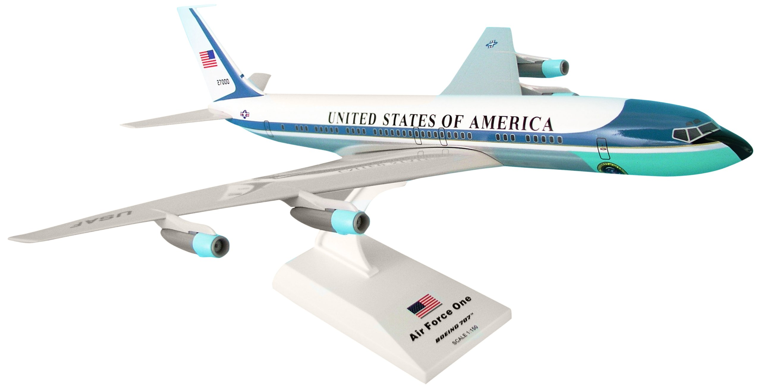 Daron Skymarks Air Force One VC-137 (707) Reg#27000 Airplane Model Building Kit, 1/150-Scale by Daron