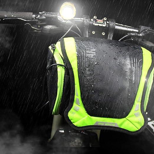 WILD MAN - Bolsa impermeable para manillar de bicicleta de montaña ...