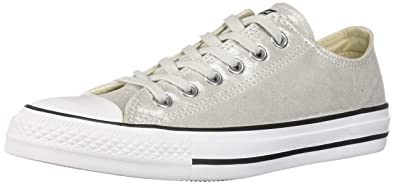 4aca623e8bb860 Converse Women s Unisex Chuck Taylor All Star Shimmer Canvas Low Top  Sneaker