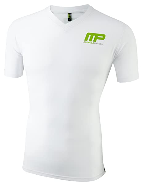 e8f8c2a84 Muscle Pharm 2016 V-Neck Logo Cotton Sports Tee Mens Training Gym Fitness T-