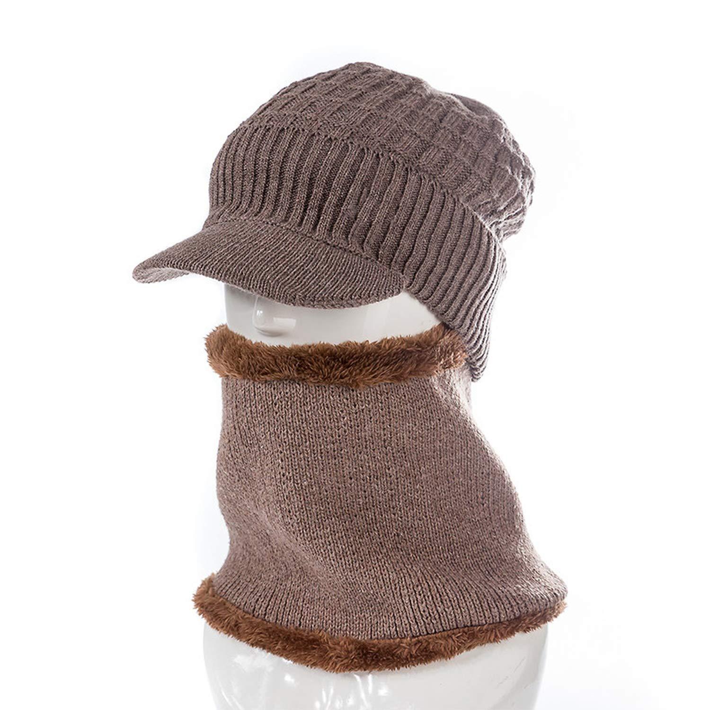 Cotton Brim Winter Hats Skullies Beanies Scarf Caps