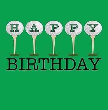 Happy Birthday Golf Grusskarte